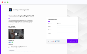 Payment Pages use case