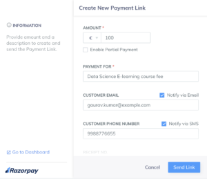 Payment Link Chrome Extension